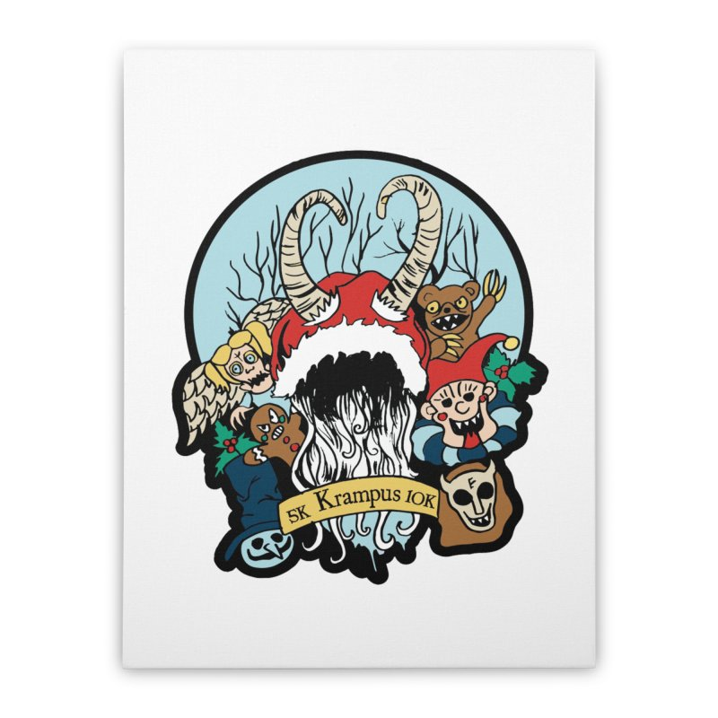 Krampus 5K & 10K Home Stretched Canvas by moonjoggers's Artist Shop