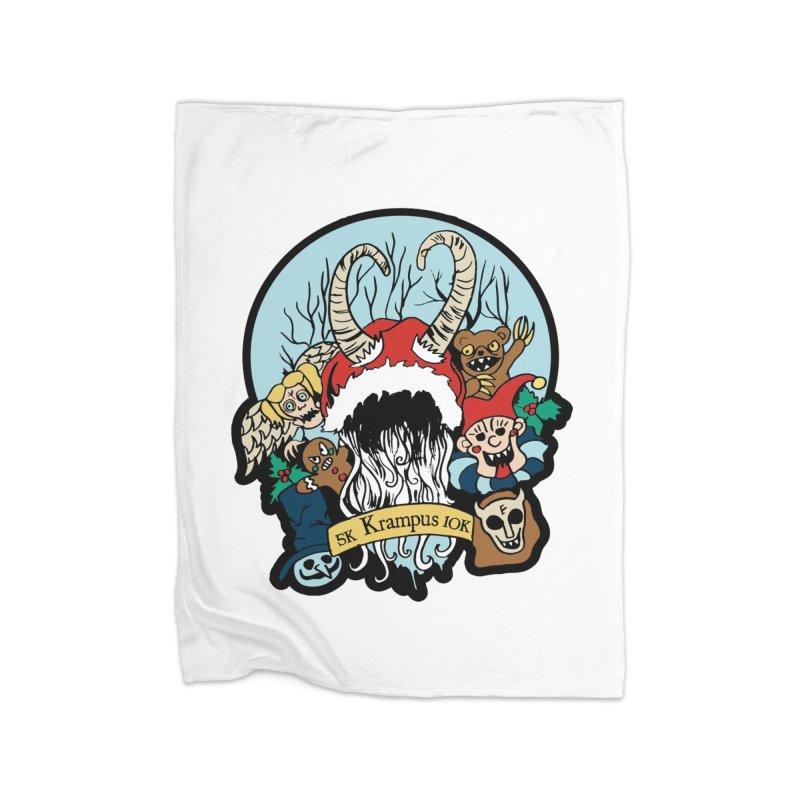 Krampus 5K & 10K Home Blanket by moonjoggers's Artist Shop