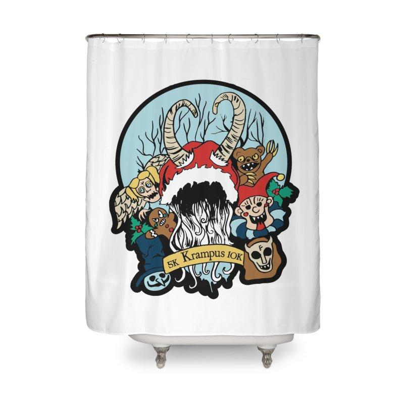 Krampus 5K & 10K Home Shower Curtain by moonjoggers's Artist Shop