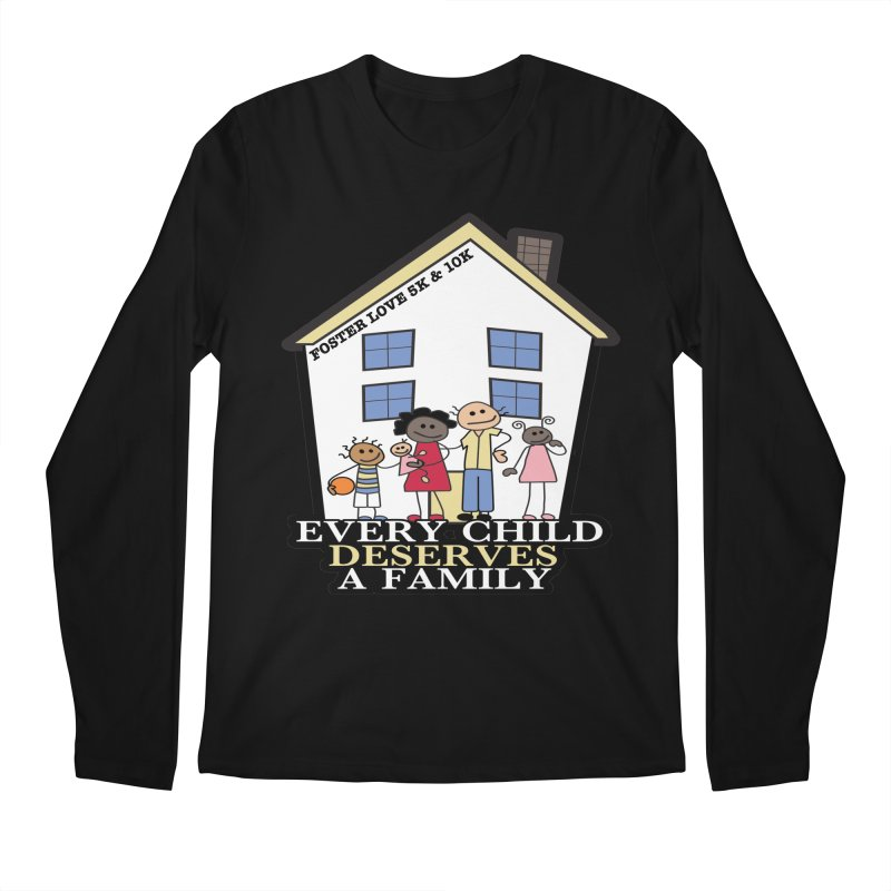 Foster Love 5K & 10K for Foster Care Awareness Men's Longsleeve T-Shirt by moonjoggers's Artist Shop