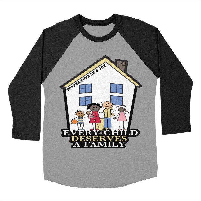 Foster Love 5K & 10K for Foster Care Awareness Women's Baseball Triblend T-Shirt by moonjoggers's Artist Shop