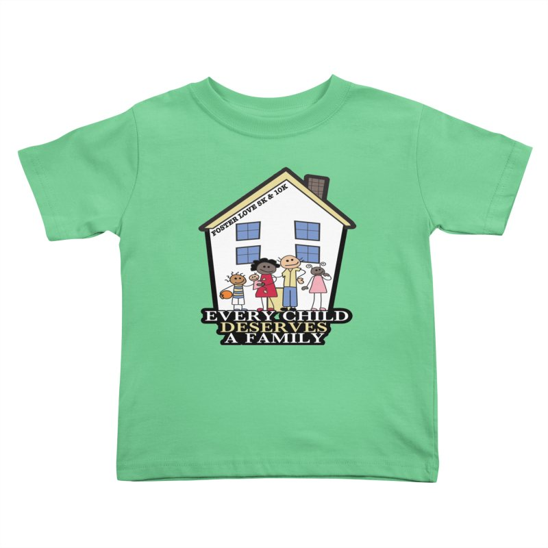 Foster Love 5K & 10K for Foster Care Awareness Kids Toddler T-Shirt by moonjoggers's Artist Shop