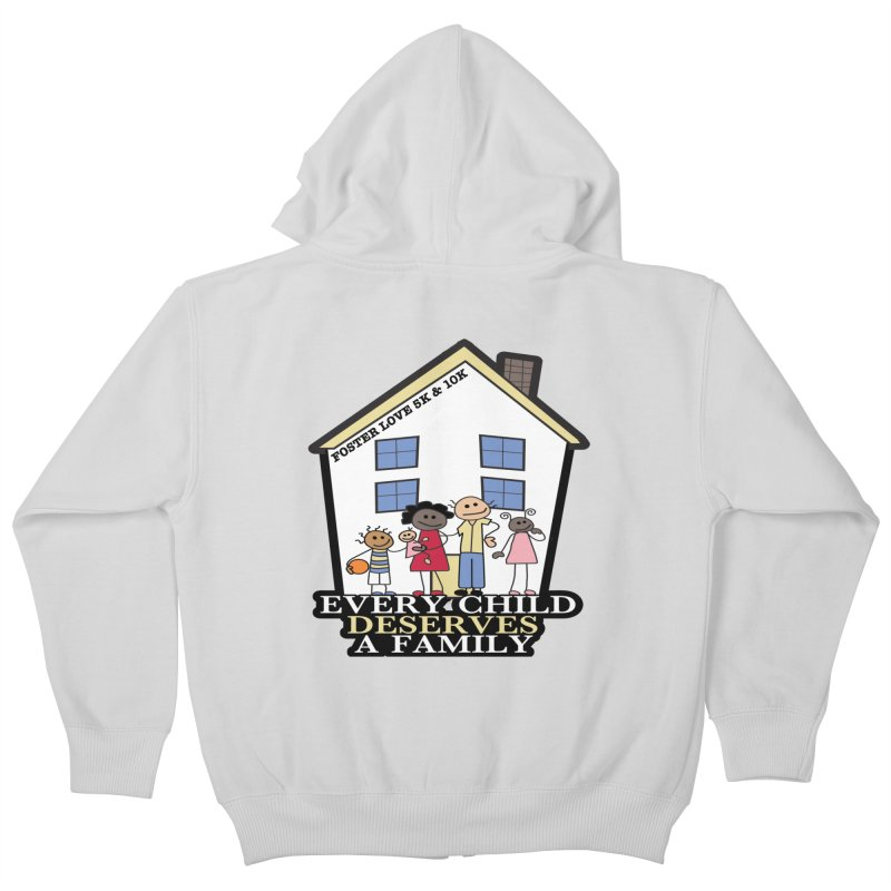 Foster Love 5K & 10K for Foster Care Awareness Kids Zip-Up Hoody by moonjoggers's Artist Shop