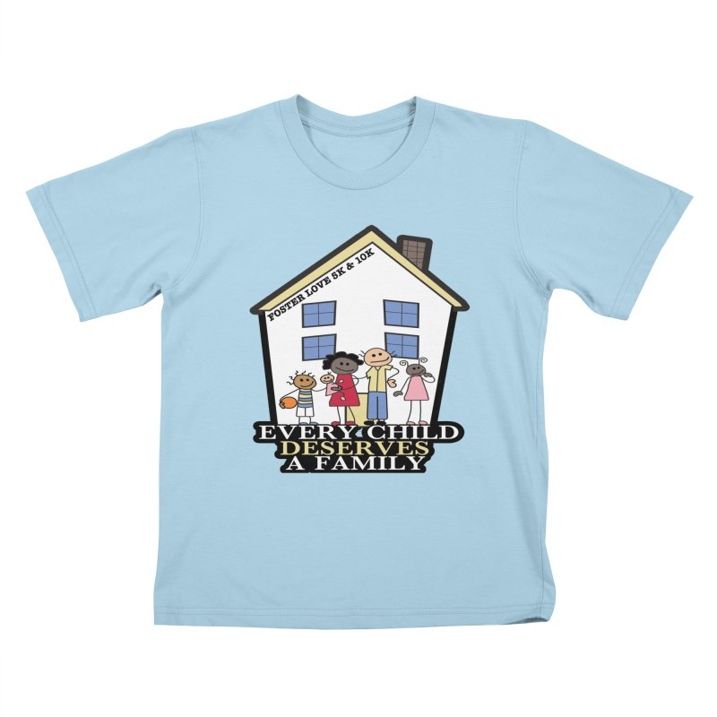 Foster Love 5K & 10K for Foster Care Awareness Kids T-Shirt by moonjoggers's Artist Shop
