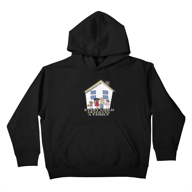 Foster Love 5K & 10K for Foster Care Awareness Kids Pullover Hoody by moonjoggers's Artist Shop