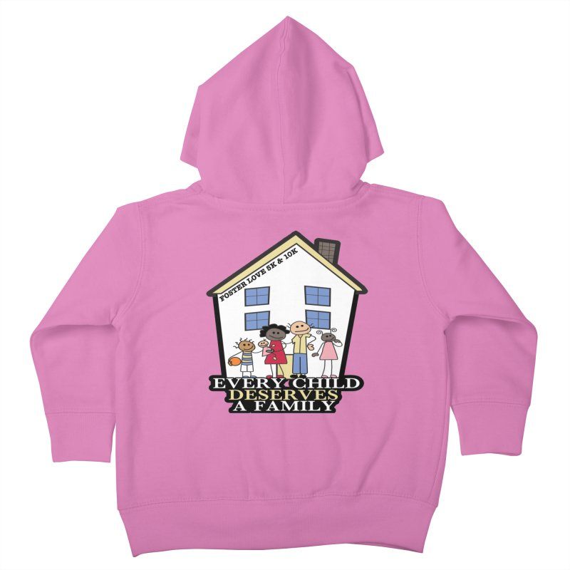 Foster Love 5K & 10K for Foster Care Awareness Kids Toddler Zip-Up Hoody by moonjoggers's Artist Shop