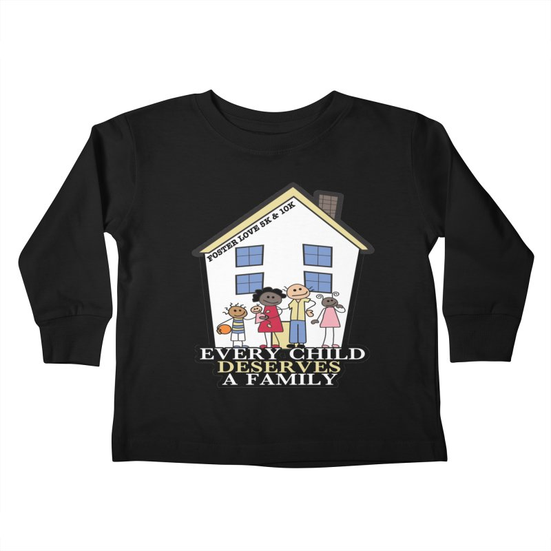 Foster Love 5K & 10K for Foster Care Awareness Kids Toddler Longsleeve T-Shirt by moonjoggers's Artist Shop