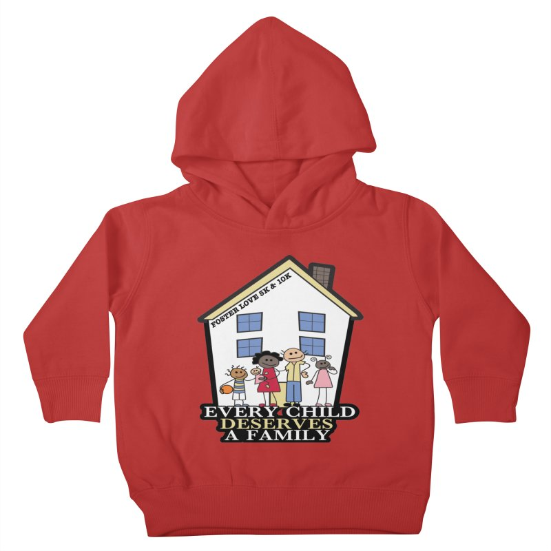 Foster Love 5K & 10K for Foster Care Awareness Kids Toddler Pullover Hoody by moonjoggers's Artist Shop