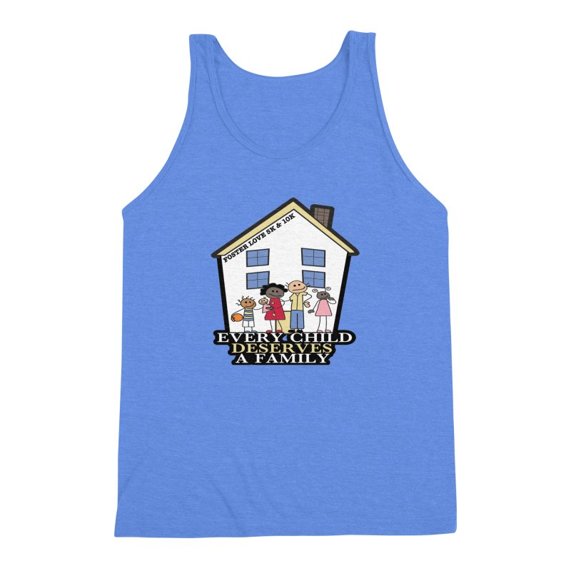 Foster Love 5K & 10K for Foster Care Awareness Men's Triblend Tank by moonjoggers's Artist Shop