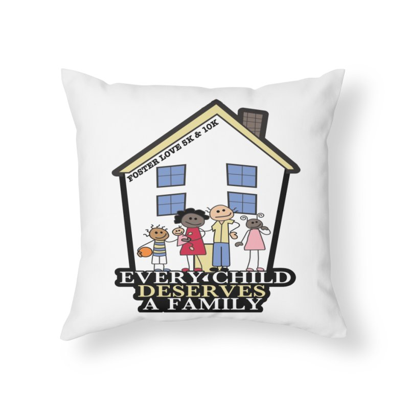 Foster Love 5K & 10K for Foster Care Awareness Home Throw Pillow by moonjoggers's Artist Shop