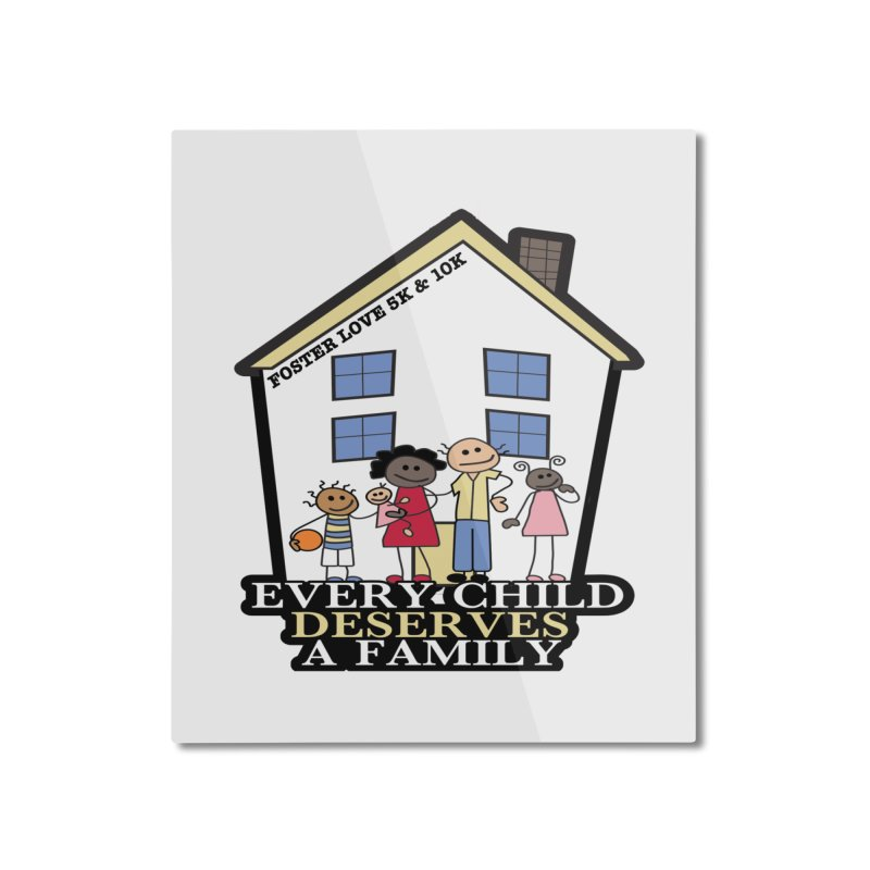 Foster Love 5K & 10K for Foster Care Awareness Home Mounted Aluminum Print by moonjoggers's Artist Shop