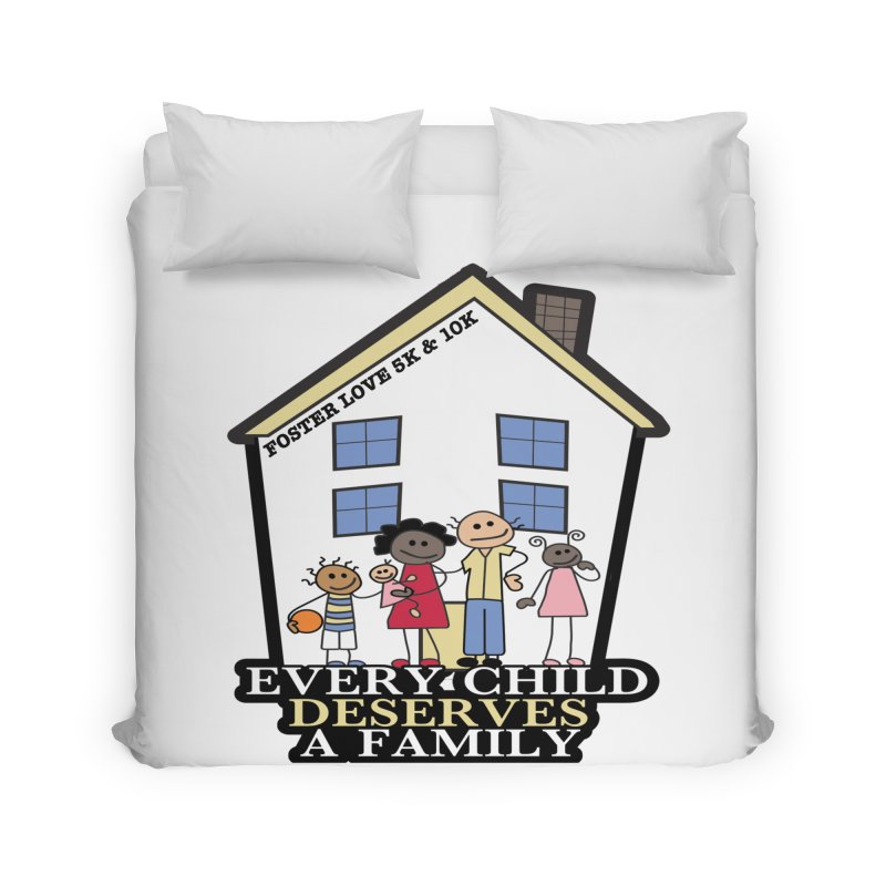 Foster Love 5K & 10K for Foster Care Awareness Home Duvet by moonjoggers's Artist Shop