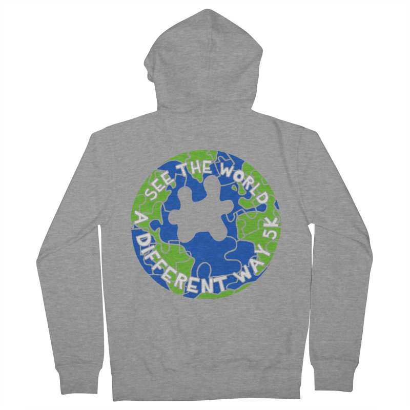 See The World A Different Way 5K Men's Zip-Up Hoody by moonjoggers's Artist Shop