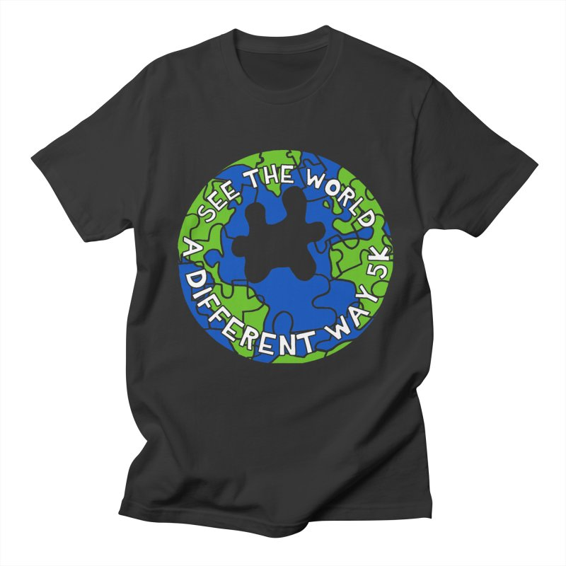 See The World A Different Way 5K Men's T-Shirt by moonjoggers's Artist Shop