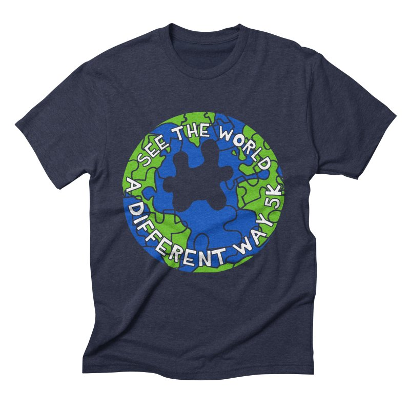 See The World A Different Way 5K Men's Triblend T-Shirt by moonjoggers's Artist Shop
