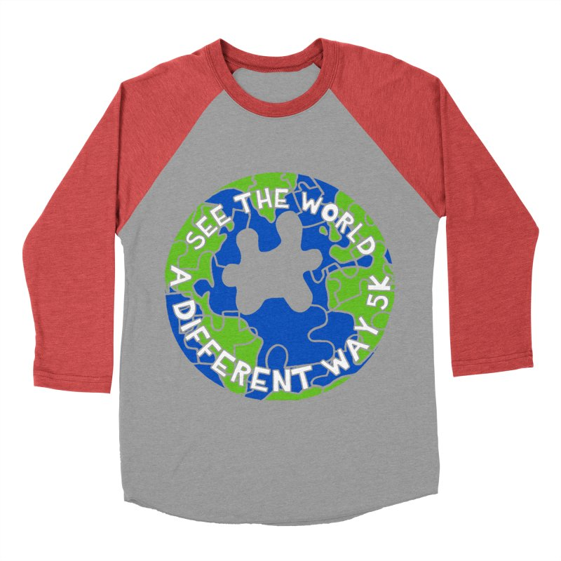 See The World A Different Way 5K Women's Baseball Triblend T-Shirt by moonjoggers's Artist Shop