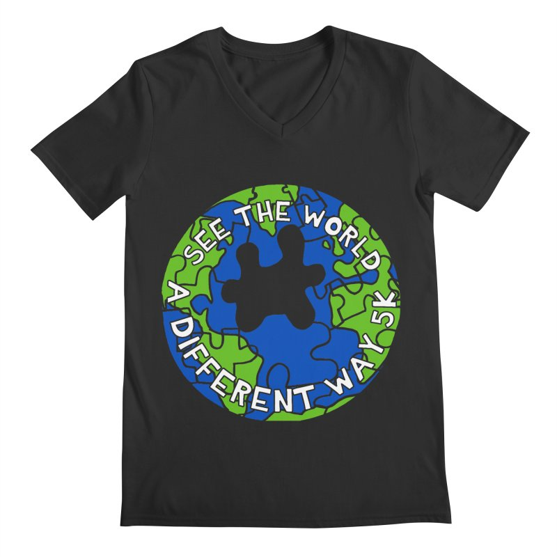 See The World A Different Way 5K Men's V-Neck by moonjoggers's Artist Shop