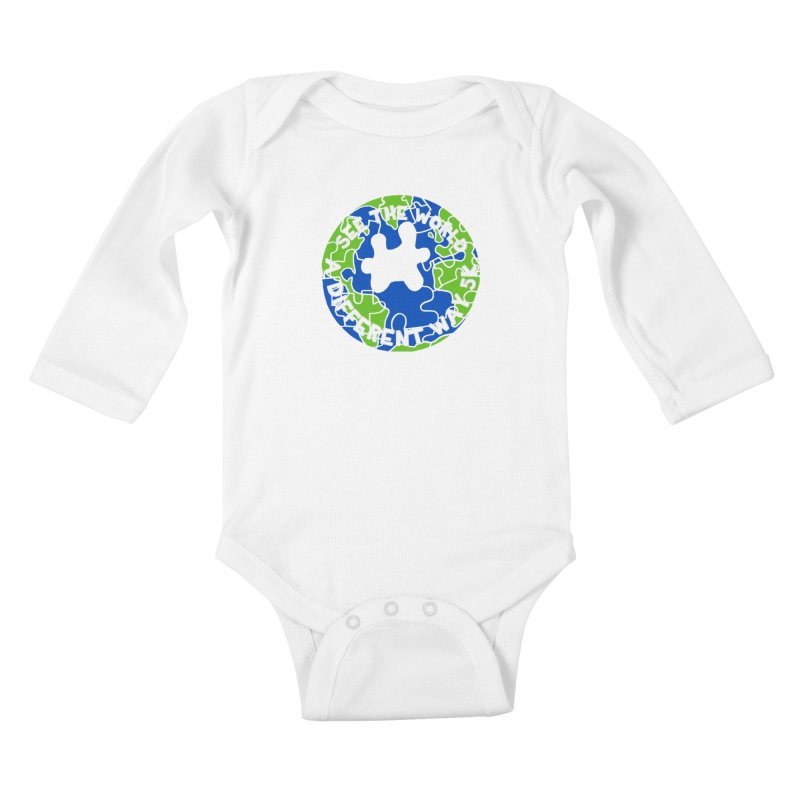 See The World A Different Way 5K Kids Baby Longsleeve Bodysuit by moonjoggers's Artist Shop