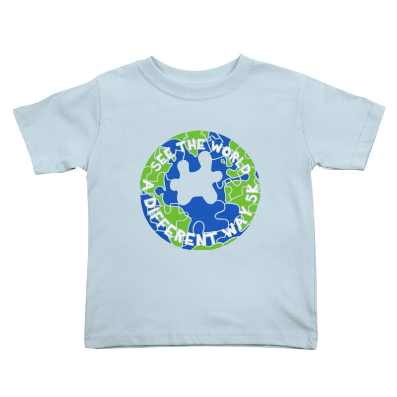 See The World A Different Way 5K Kids Toddler T-Shirt by moonjoggers's Artist Shop