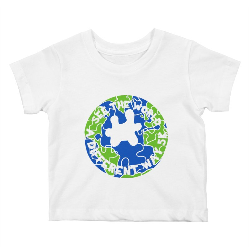 See The World A Different Way 5K Kids Baby T-Shirt by moonjoggers's Artist Shop