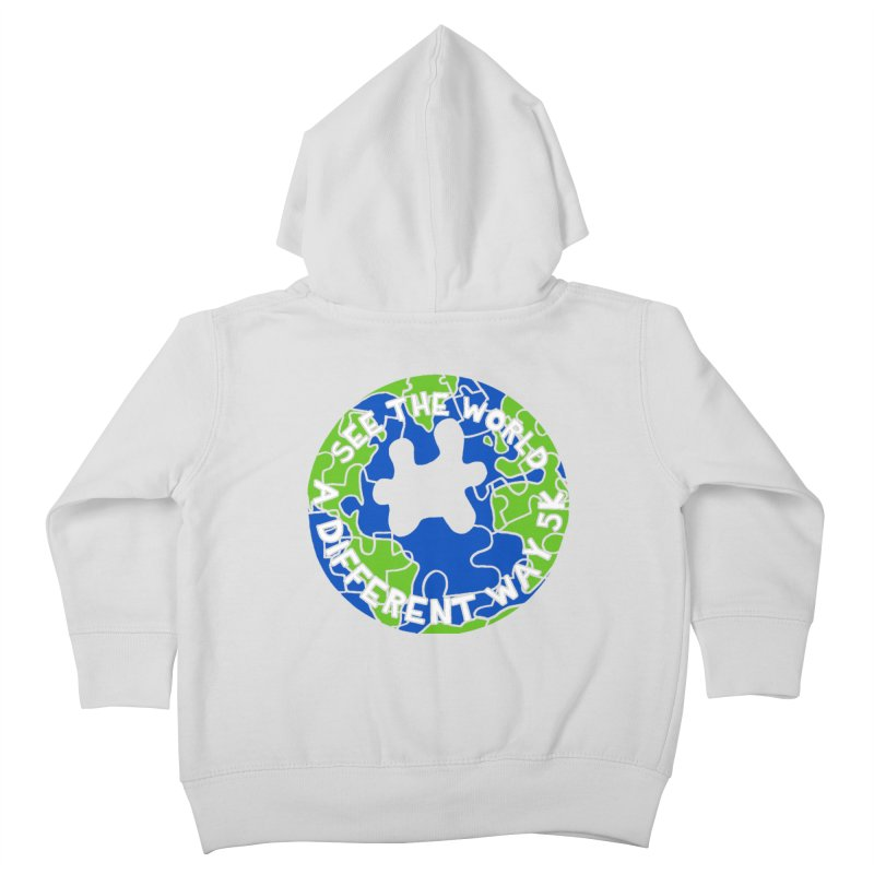 See The World A Different Way 5K Kids Toddler Zip-Up Hoody by moonjoggers's Artist Shop