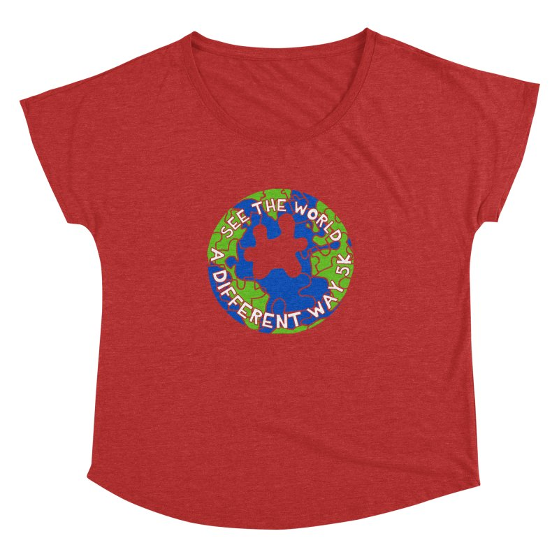 See The World A Different Way 5K Women's Dolman by moonjoggers's Artist Shop
