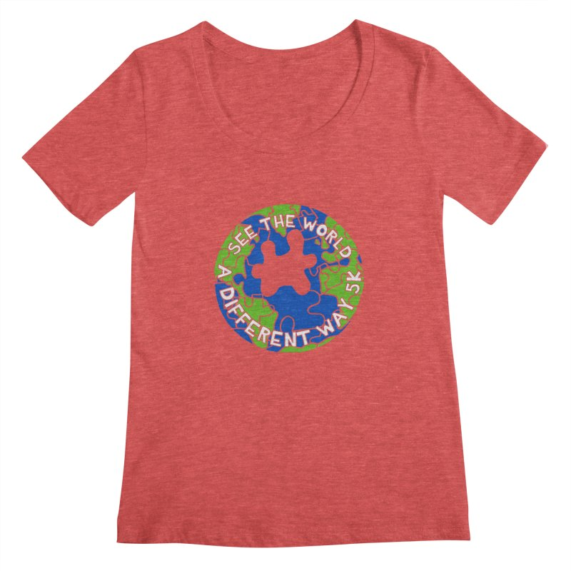 See The World A Different Way 5K Women's Scoopneck by moonjoggers's Artist Shop