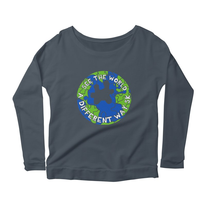 See The World A Different Way 5K Women's Longsleeve Scoopneck  by moonjoggers's Artist Shop