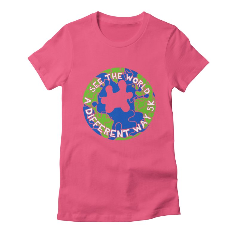 See The World A Different Way 5K Women's Fitted T-Shirt by moonjoggers's Artist Shop