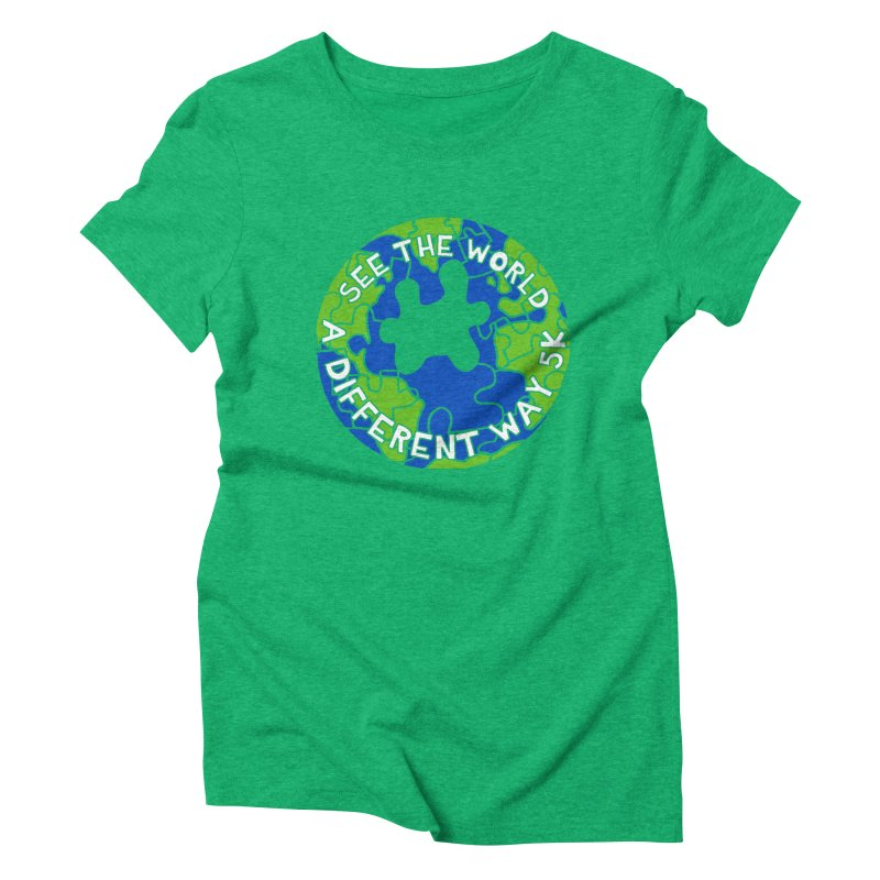 See The World A Different Way 5K Women's Triblend T-Shirt by moonjoggers's Artist Shop