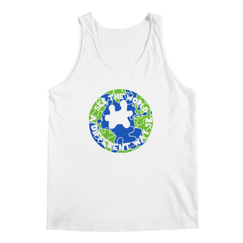 See The World A Different Way 5K Men's Tank by moonjoggers's Artist Shop