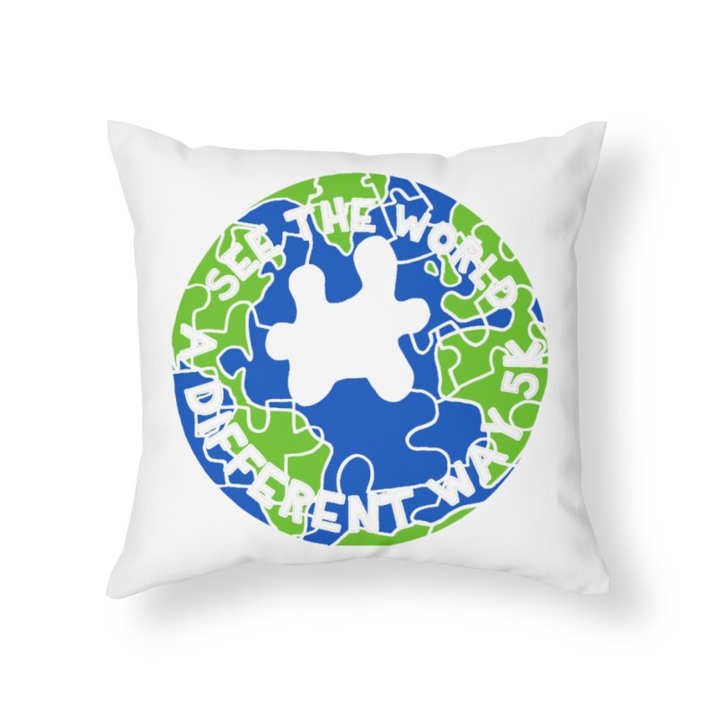 See The World A Different Way 5K Home Throw Pillow by moonjoggers's Artist Shop
