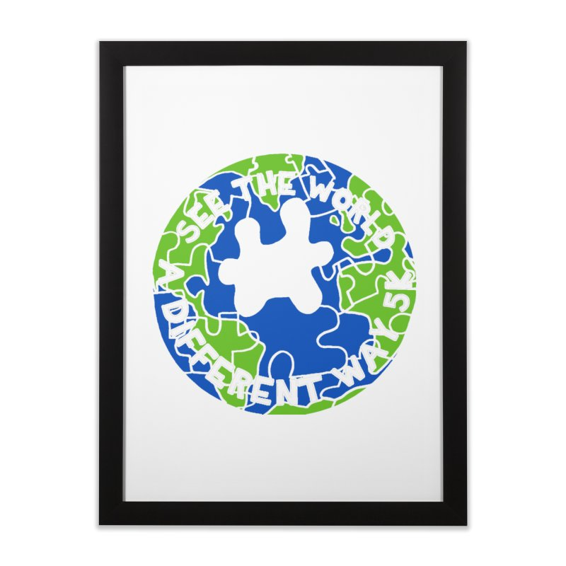 See The World A Different Way 5K Home Framed Fine Art Print by moonjoggers's Artist Shop