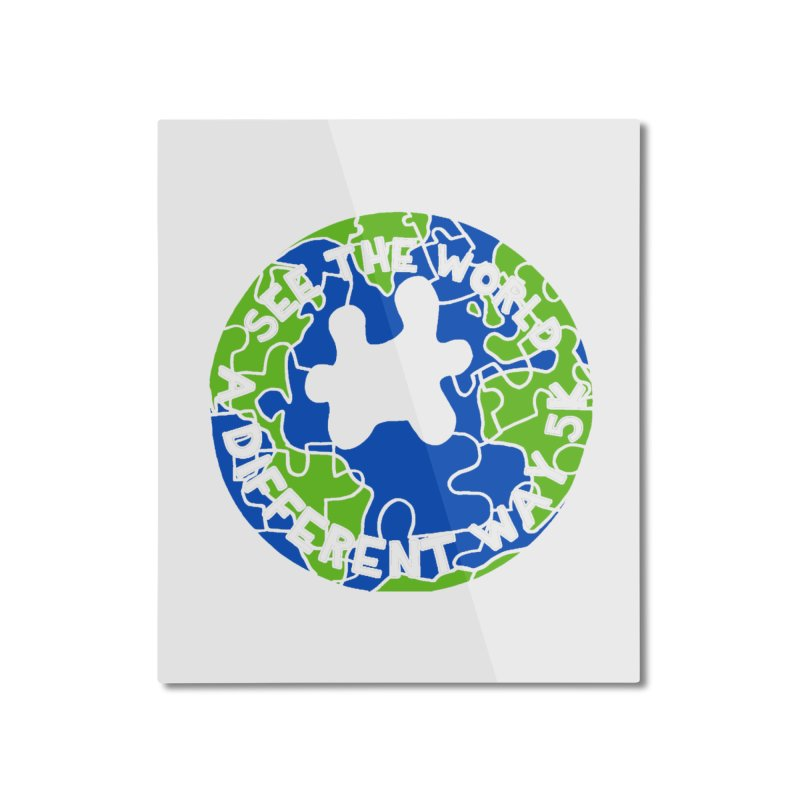 See The World A Different Way 5K Home Mounted Aluminum Print by moonjoggers's Artist Shop