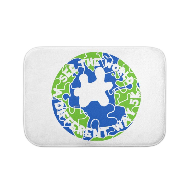 See The World A Different Way 5K Home Bath Mat by moonjoggers's Artist Shop