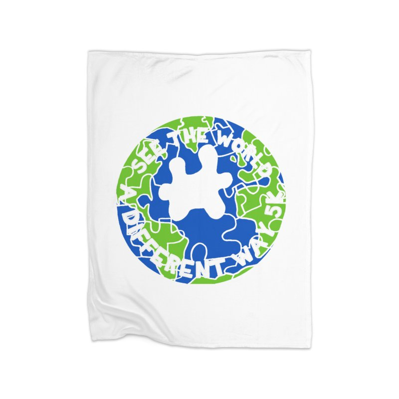 See The World A Different Way 5K Home Blanket by moonjoggers's Artist Shop