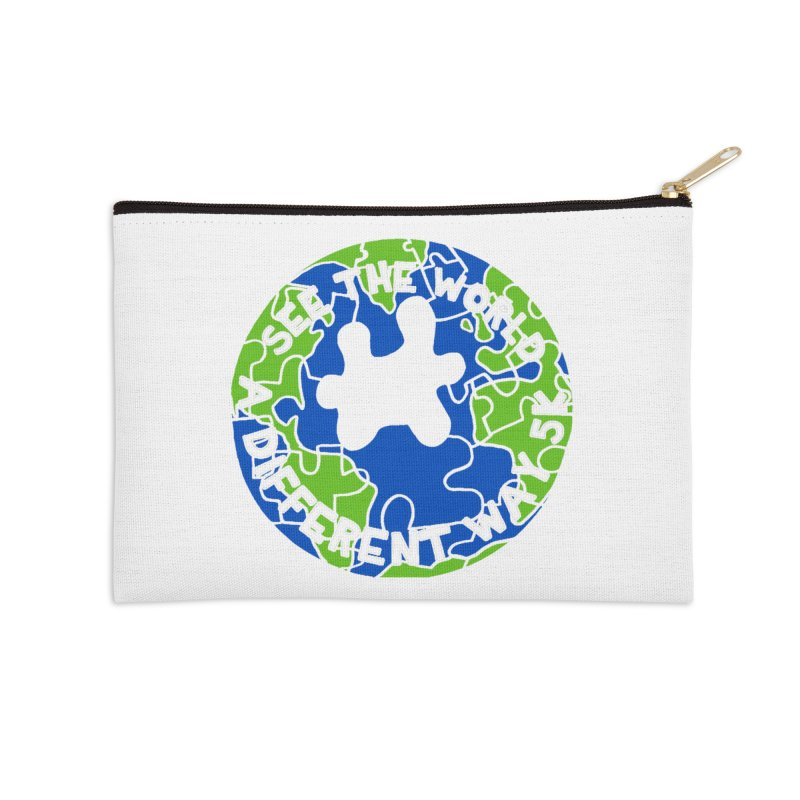 See The World A Different Way 5K Accessories Zip Pouch by moonjoggers's Artist Shop