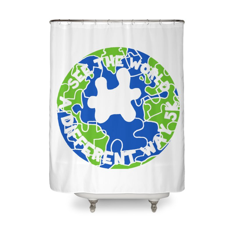 See The World A Different Way 5K Home Shower Curtain by moonjoggers's Artist Shop
