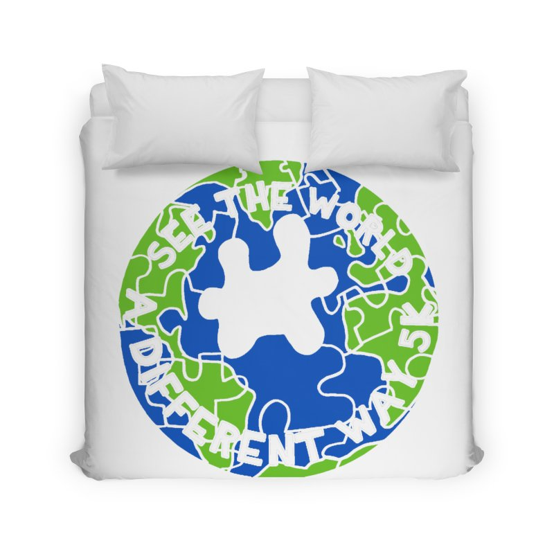 See The World A Different Way 5K Home Duvet by moonjoggers's Artist Shop