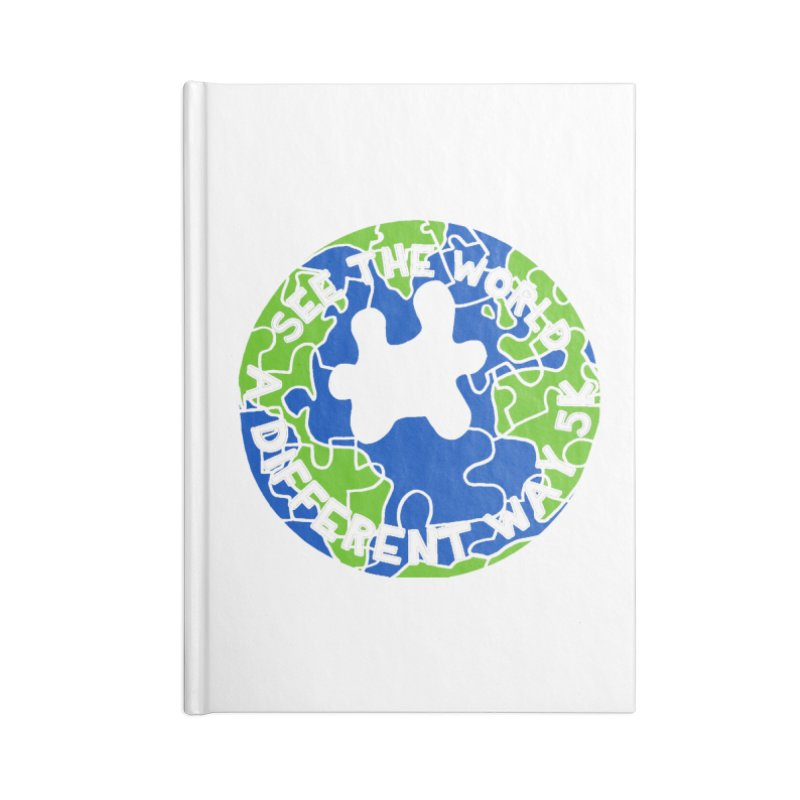 See The World A Different Way 5K Accessories Notebook by moonjoggers's Artist Shop