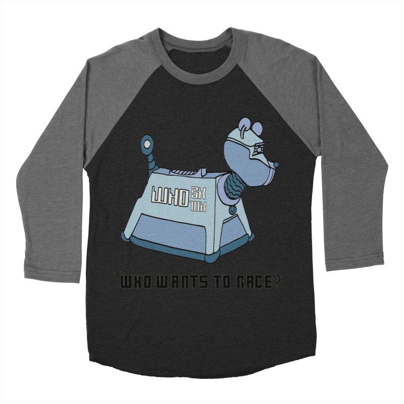 WHO Wants to Race 5K & 10K Women's Baseball Triblend T-Shirt by moonjoggers's Artist Shop