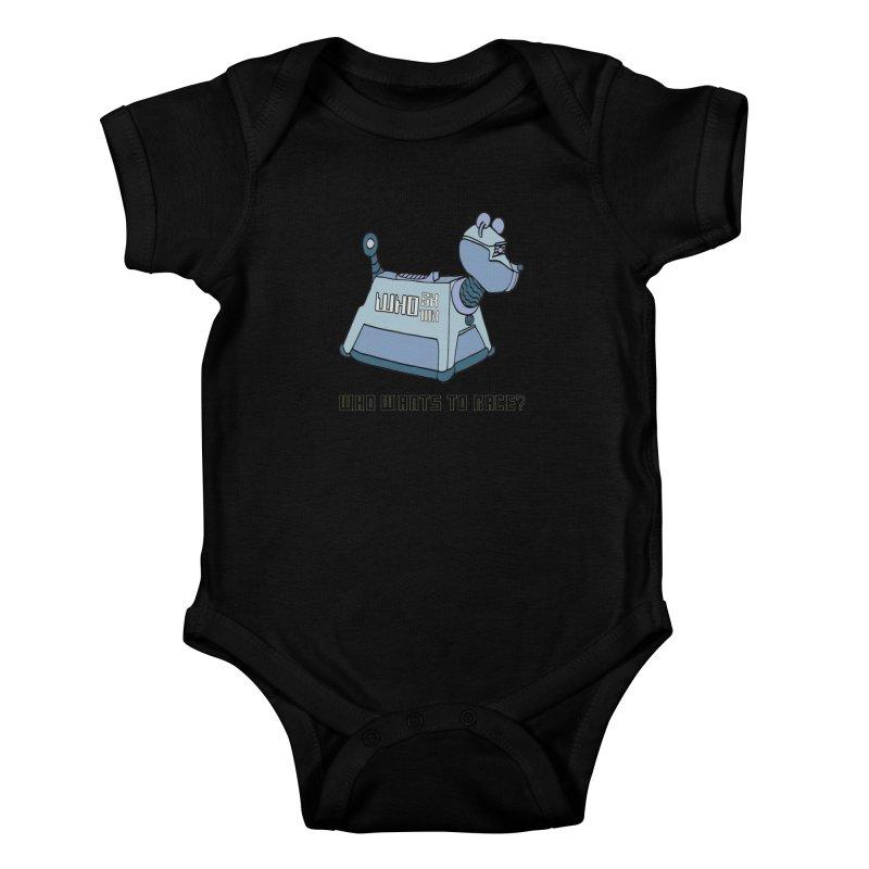 WHO Wants to Race 5K & 10K Kids Baby Bodysuit by moonjoggers's Artist Shop