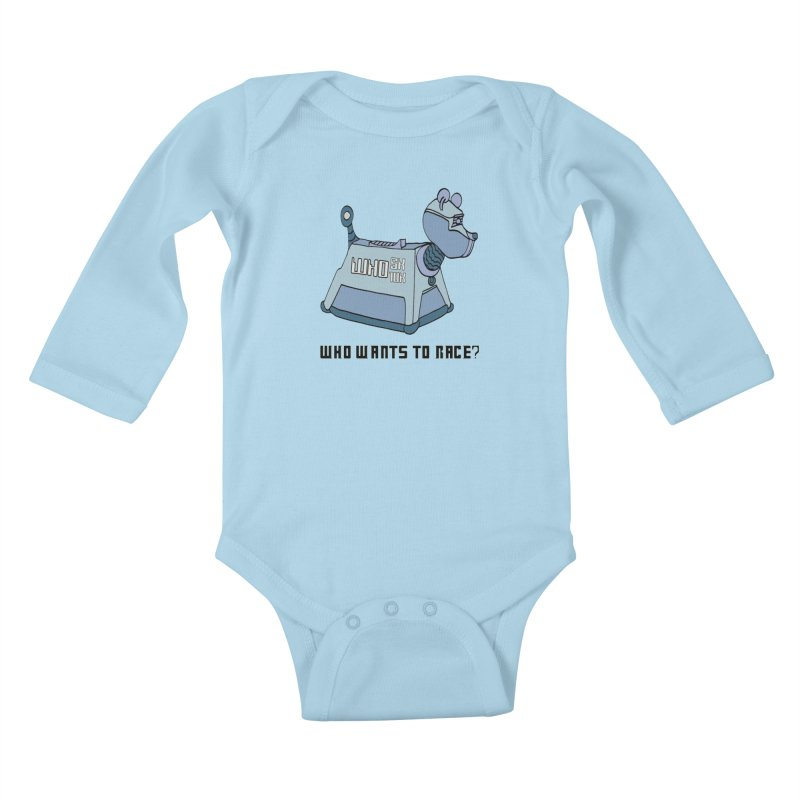 WHO Wants to Race 5K & 10K Kids Baby Longsleeve Bodysuit by moonjoggers's Artist Shop