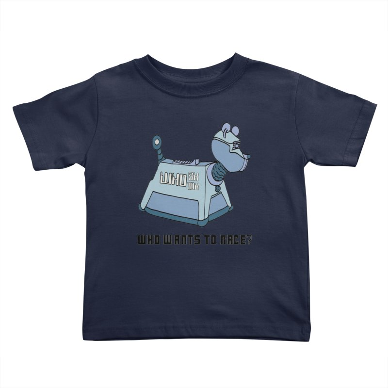 WHO Wants to Race 5K & 10K Kids Toddler T-Shirt by moonjoggers's Artist Shop