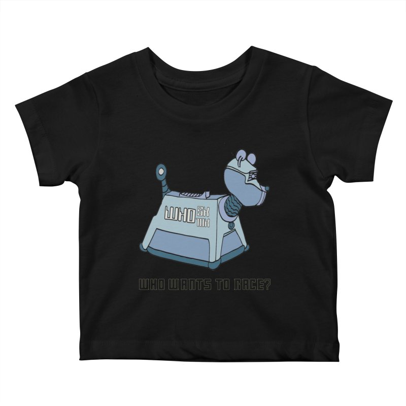 WHO Wants to Race 5K & 10K Kids Baby T-Shirt by moonjoggers's Artist Shop