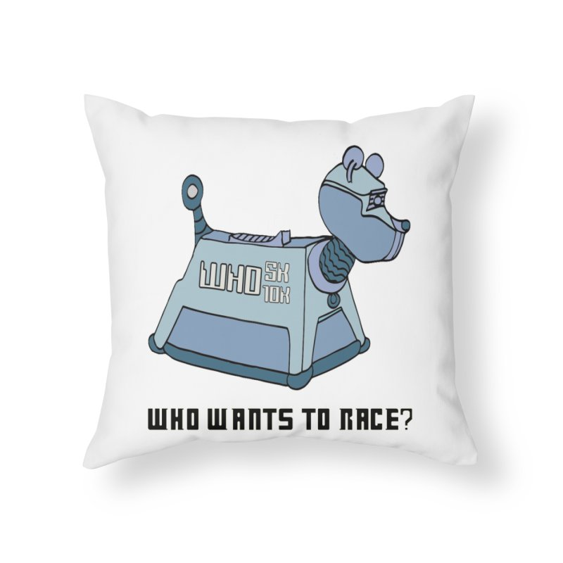 WHO Wants to Race 5K & 10K Home Throw Pillow by moonjoggers's Artist Shop