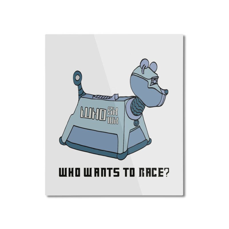 WHO Wants to Race 5K & 10K Home Mounted Aluminum Print by moonjoggers's Artist Shop