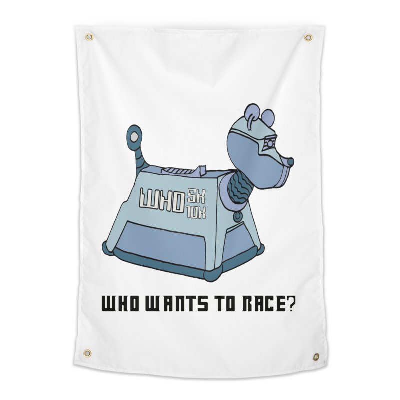 WHO Wants to Race 5K & 10K Home Tapestry by moonjoggers's Artist Shop