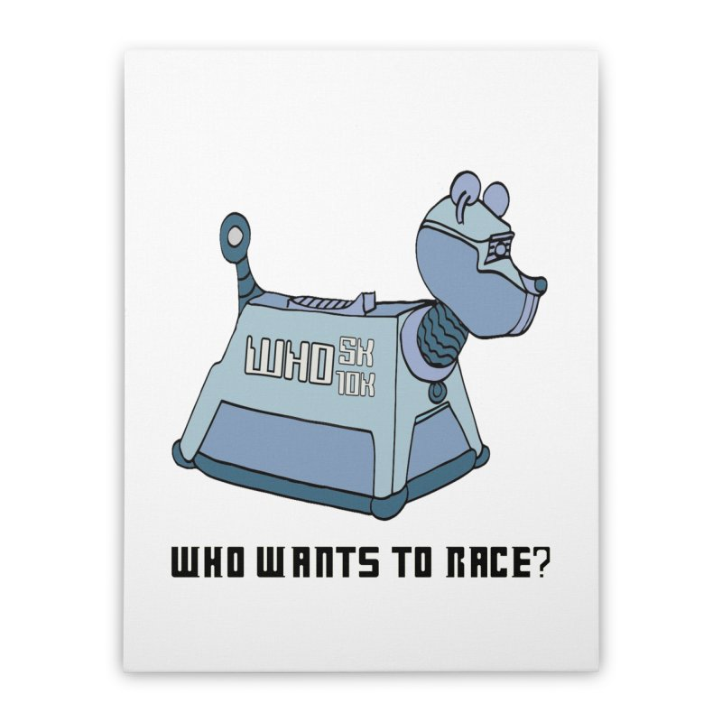 WHO Wants to Race 5K & 10K Home Stretched Canvas by moonjoggers's Artist Shop