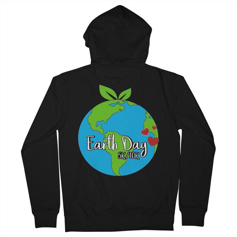 Earth Day 5K & 10K Men's Zip-Up Hoody by moonjoggers's Artist Shop